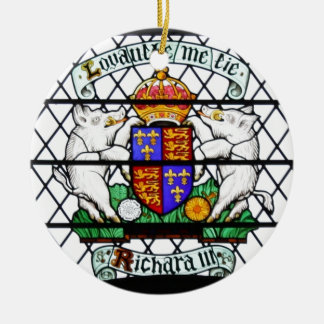 UNITED KINGDOM STAINED GLASS RICHARD III CHRISTMAS TREE ORNAMENT