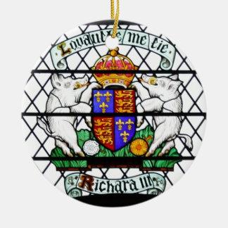 UNITED KINGDOM STAINED GLASS RICHARD III ROUND CERAMIC DECORATION