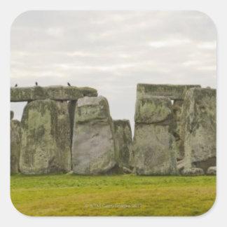 United Kingdom, Stonehenge 10 Square Sticker