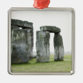 United Kingdom, Stonehenge 13 Silver-Colored Square Decoration