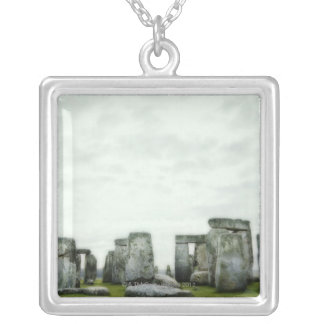 United Kingdom, Stonehenge 14 Silver Plated Necklace