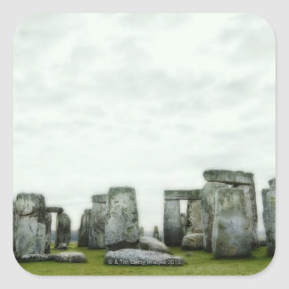 United Kingdom, Stonehenge 14 Square Sticker