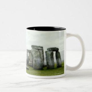 United Kingdom, Stonehenge 14 Two-Tone Coffee Mug