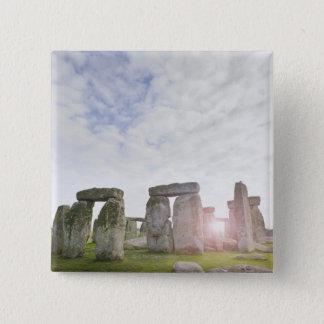 United Kingdom, Stonehenge 2 15 Cm Square Badge