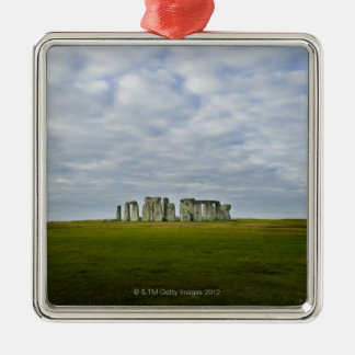 United Kingdom, Stonehenge 5 Silver-Colored Square Decoration