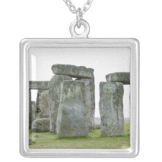 United Kingdom, Stonehenge 9 Silver Plated Necklace