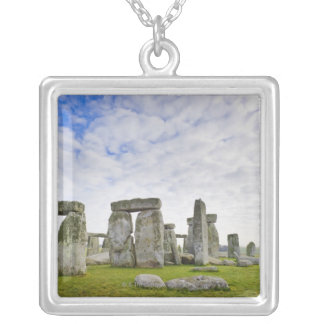United Kingdom, Stonehenge Silver Plated Necklace