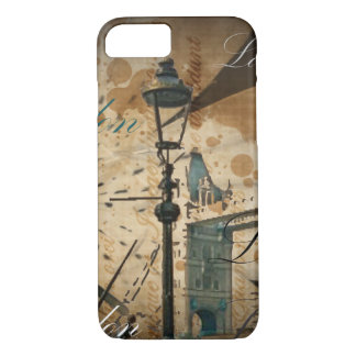 united kingdom thames london tower bridge Lamppost iPhone 8/7 Case