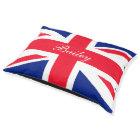 United Kingdom UK Union Jack Personalised Flag Pet Bed
