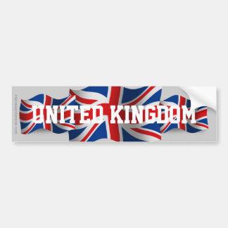 United Kingdom Waving Flag Car Bumper Sticker
