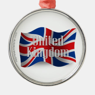 United Kingdom Waving Flag Christmas Ornament