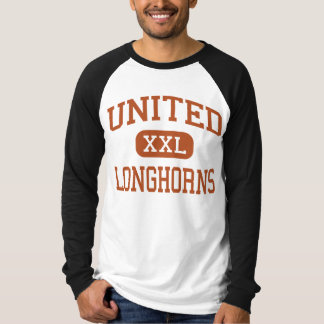 United - Longhorns - High School - Laredo Texas T-Shirt