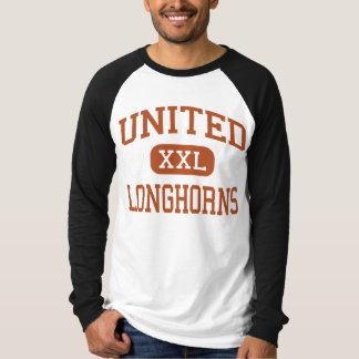 United - Longhorns - High School - Laredo Texas Tee Shirt