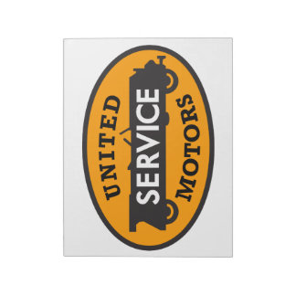 United Motors Service vintage sign notepad Memo Note Pads