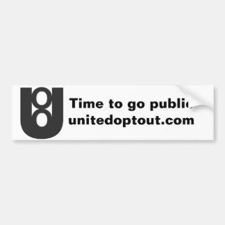 United Opt Out Bumper Sticker