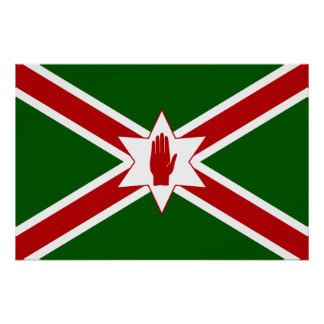 United Saint Patrick'S For Northern Ireland flag Poster