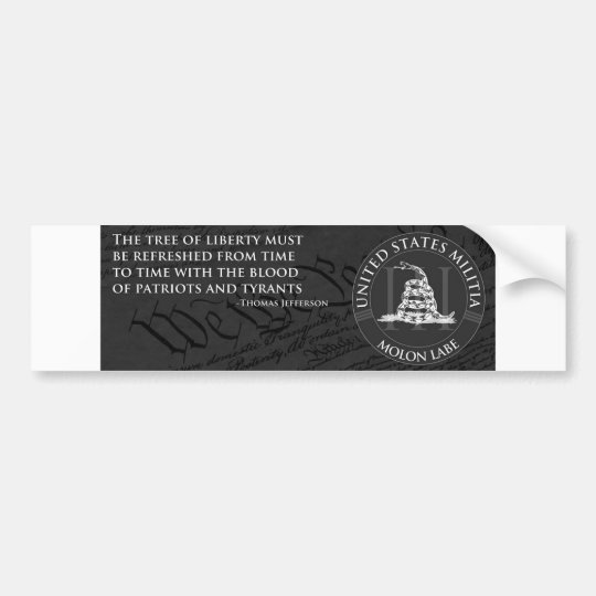 United Satates Militia Bumper Sticker