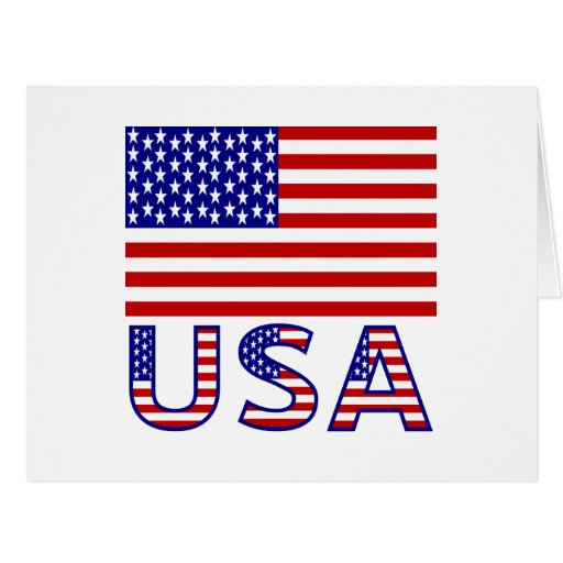 United Sates Flag and USA Cards