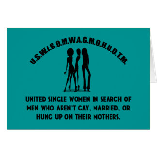 United Single Women - Singles Funny Shirt Card