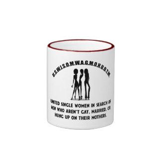 United Single Women - Singles Funny Shirt Ringer Mug