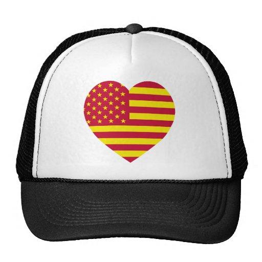 United Socialist States of America Flag Heart Mesh Hats