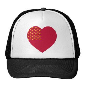 United Soviet States of America Flag Heart Hats