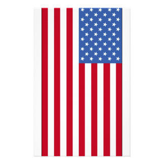 United State of America Flag Personalized Stationery