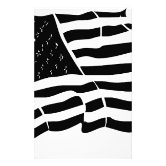 United State of America Flag Star Strips Stationery Paper