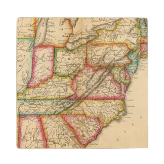 United States 11 Wood Coaster