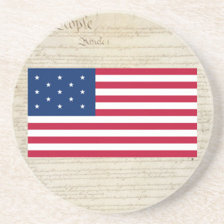 united States 13 Star Flag Drink Coasters