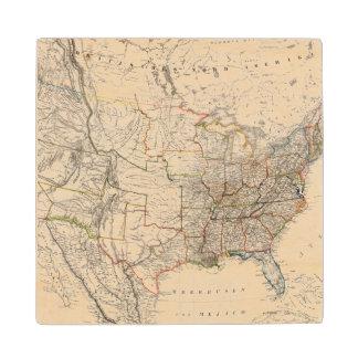 United States 25 Wood Coaster