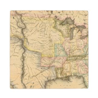 United States 29 Wood Coaster