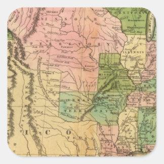 United States 35 Square Sticker