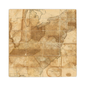 United States 39 Wood Coaster