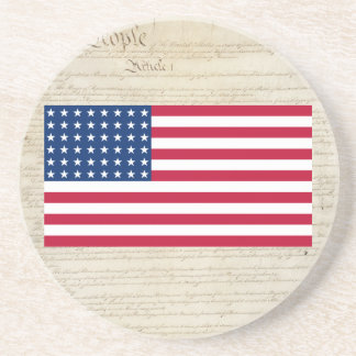 United States 48 Star Flag Drink Coaster