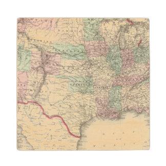 United States 4 Wood Coaster