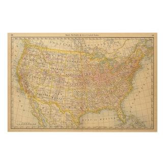 United States 4 Wood Print