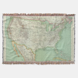 United States 7 Throw Blanket