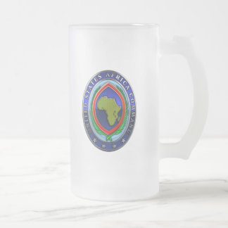 United States Africa Command Frosted Glass Mug