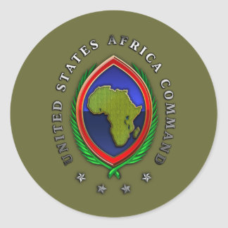 United States Africa Command Round Sticker