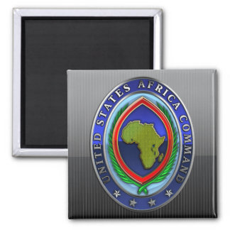 United States Africa Command Square Magnet