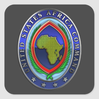 United States Africa Command Square Sticker