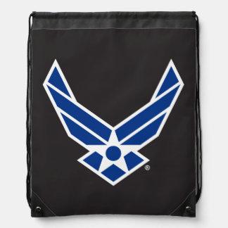 United States Air Force Logo - Blue Drawstring Bag