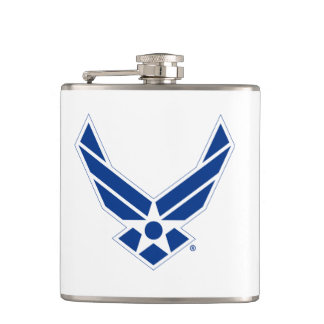 United States Air Force Logo - Blue Hip Flask