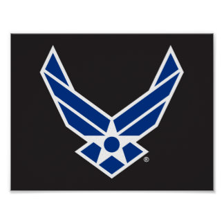 United States Air Force Logo - Blue Poster