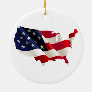 united states america, 4th july independence day round ceramic decoration