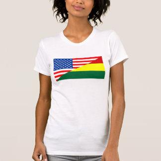 united states america bolivia half flag usa countr T-Shirt