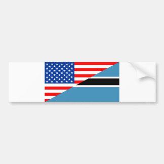 united states america botswana half flag usa count bumper sticker