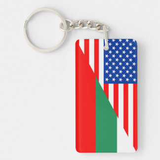 united states america bulgaria half flag usa count key ring