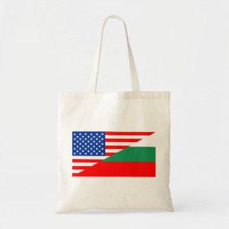 united states america bulgaria half flag usa count tote bag